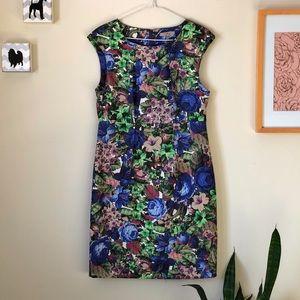Darling floral woven sheath dress | size Medium